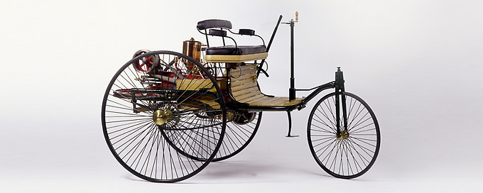 "The original ""Benz Patent Motor Car"", 1886 - the world's first automobile"