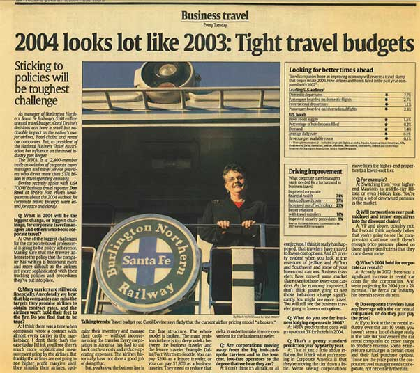 USA Today Article - NBTA Interview 2004