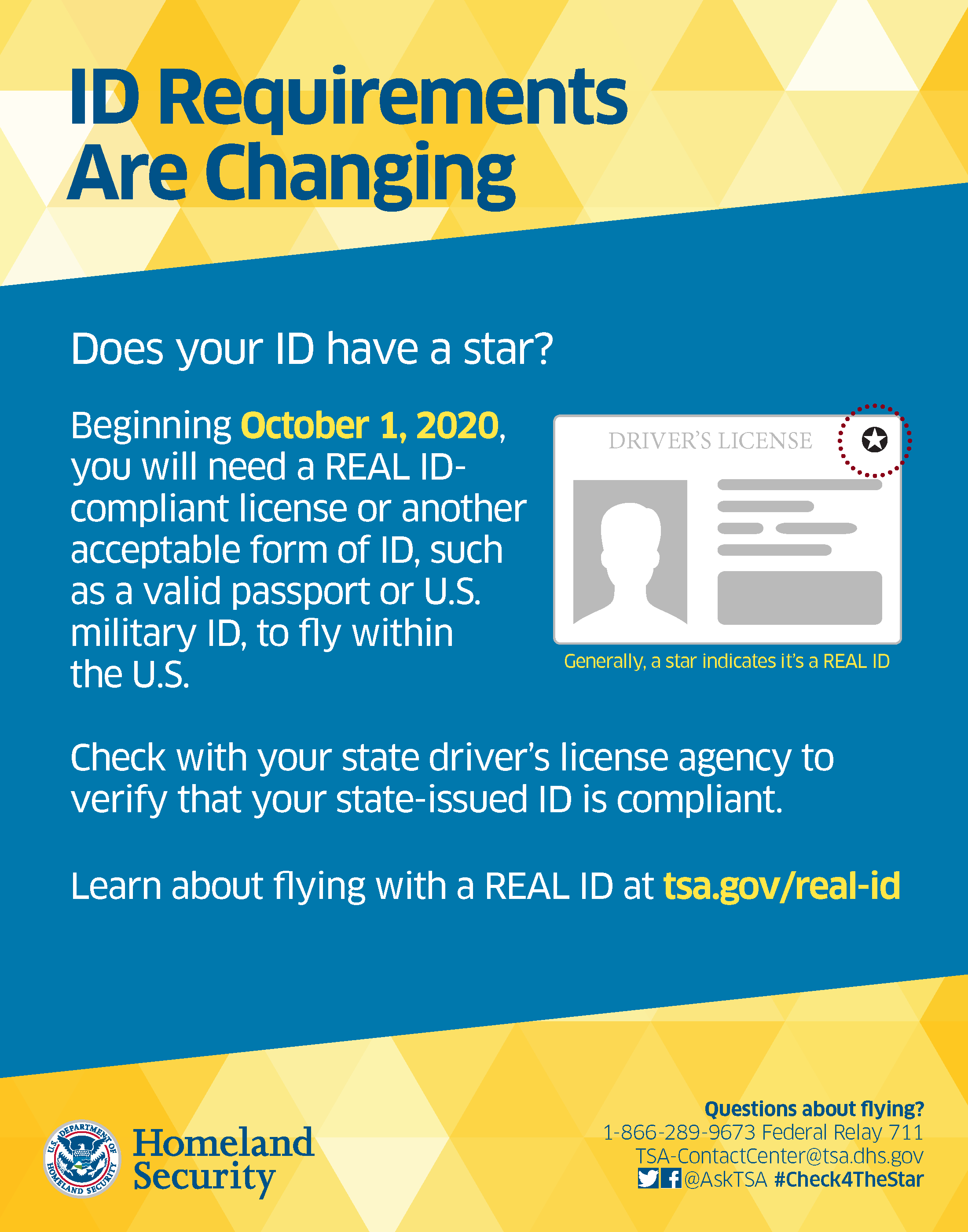 ID Requirements are Changing. Does your ID have a star? REAL ID